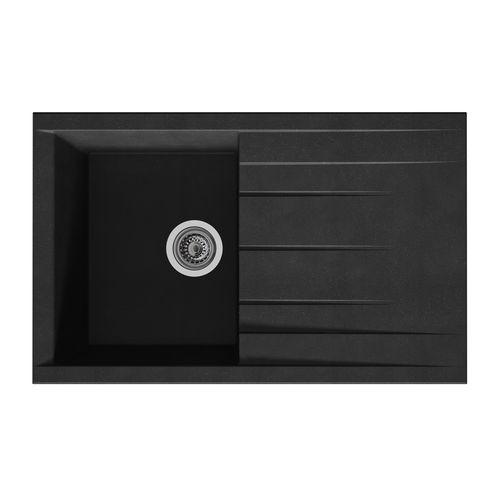 Évier Cube 1bac composite noir 80x50x21cm