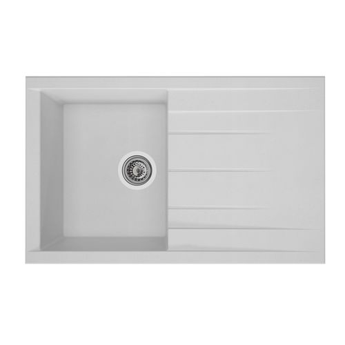 Évier Cube 1 bac composite blanc 80x50x21cm