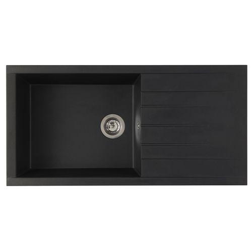 Spoelbak Cube 1 XL bak 100 x 50 x 21 cm composite zwart