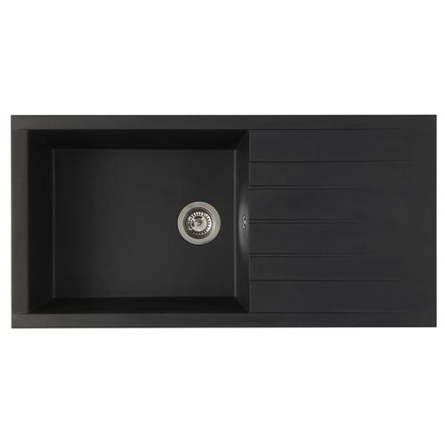 Evier Cube 1 XL cuve 100 x 50 x 21 cm composite noir
