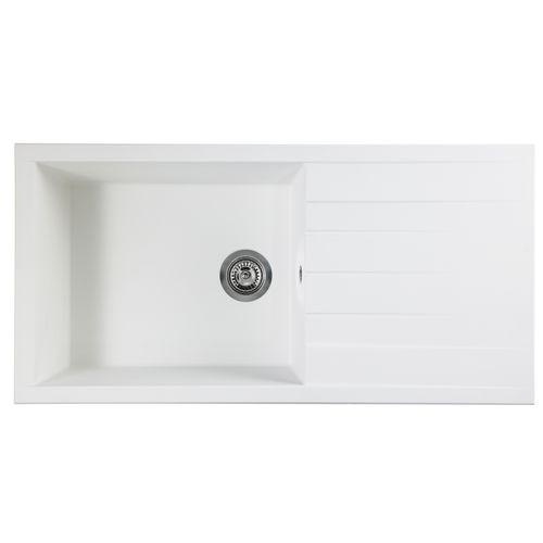Évier Cube 1 bac XL composite blanc 100x50x21cm