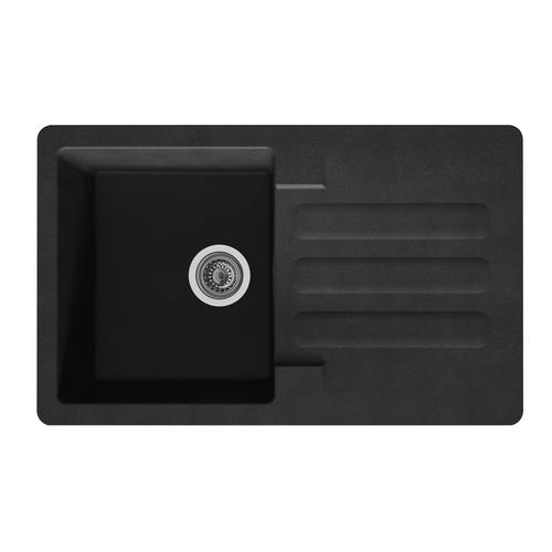 Spoelbak Vogua 1 bak 81x50x21cm composiet zwart