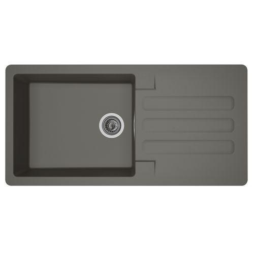 Évier Vogua 1 bac XL composite gris 100x50x21cm