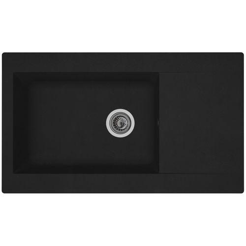 Spoelbak Einna 1 XL bak 86x50x20cm composiet zwart