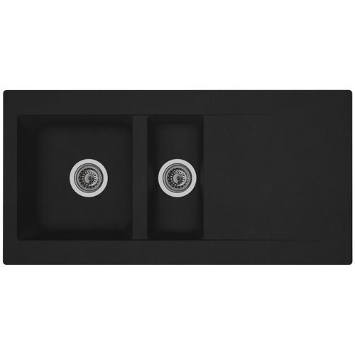 Spoelbak Einna 1,5  bak 100x50x20cm composiet zwart