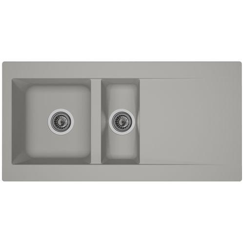 Spoelbak Einna 1,5 bak 100x50x20cm composiet betongrijs