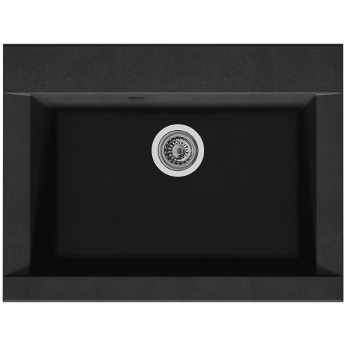 Spoelbak Hexo 1 XL bak 66x50x21cm composiet zwart
