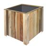 Plantenbak acaciahout vierkant 50x50cm natuurlijk