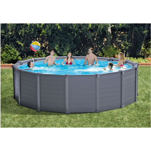 Piscine parois en graphite Intex Graphite Panel Pool Set 478X124cm
