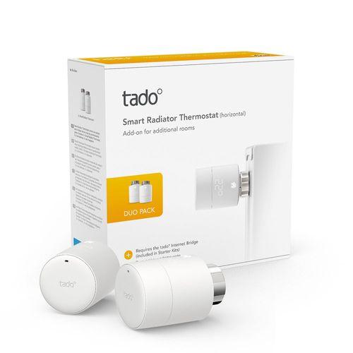 Tado slimme radiatorknop Duo Pack wit