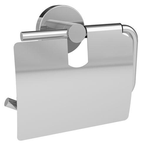 Porte-papier de toilette + couvercle Allibert Coperblink argenté brillant à suspendre