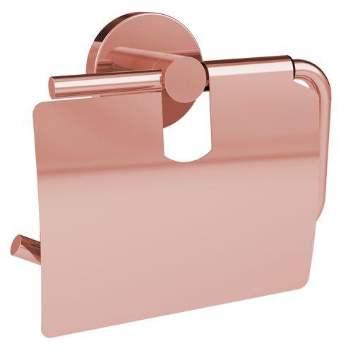 Porte-papier de toilette + couvercle Allibert Coperblink cuivre brillant à suspendre