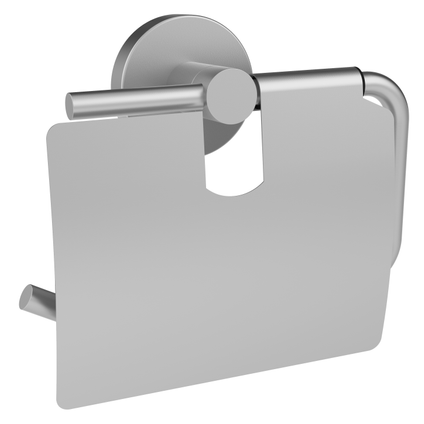 Porte-papier de toilette + couvercle Allibert Coperblink argenté brossé à suspendre