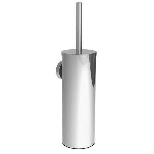 Set brosse wc Allibert Coperblink argenté brillant à suspendre