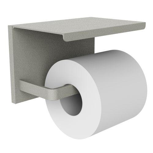 Allibert toiletrolhouder Loft-Game met plateau grijs mat