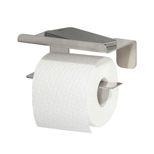 Porte-papier de toilette + planchette Tiger Colar argenté brossé à suspendre
