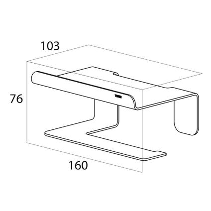Tiger Colar Porte-rouleau papier toilette avec tablette Acier inoxydable poli