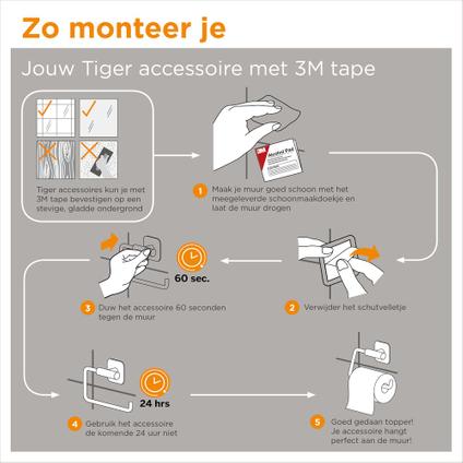 Tiger Colar Porte-rouleaux papier toilette de réserve Acier inoxydable poli