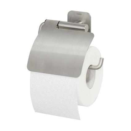 Tiger Colar Porte-rouleau papier toilette avec rabat Acier inoxydable brossé