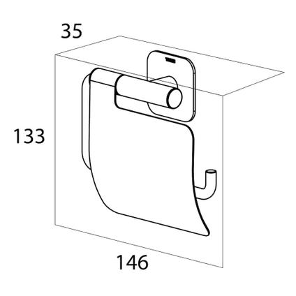 Tiger Colar Porte-rouleau papier toilette avec rabat Acier inoxydable poli