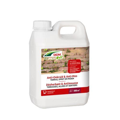 Herbicide total anti-mousse DCM Terrasses, allées & sentiers concentré 2,5L 200m²