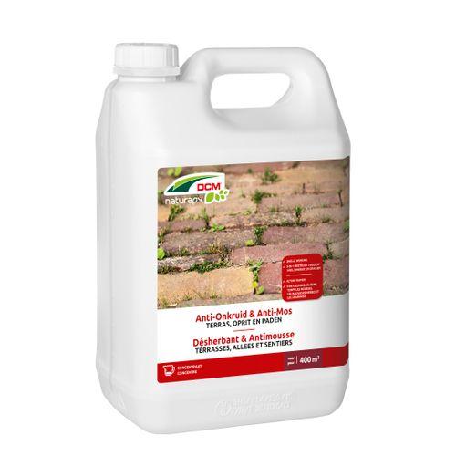 Herbicide total anti-mousse DCM Terrasses, allées & sentiers concentré 5L 400m²