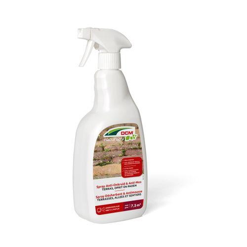 Herbicide total anti-mousse DCM Terrasses, allées & sentiers prêt à l'emploi 0,75L 7,5m²