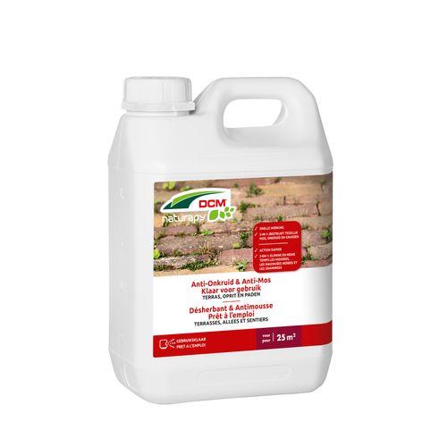 Herbicide total anti-mousse DCM Terrasses, allées & sentiers prêt à l'emploi 2,5L 25m²
