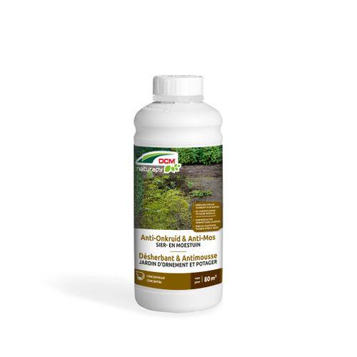 DCM totaal anti-onkruid en mos geconcentreerde siertuin 1L 80m