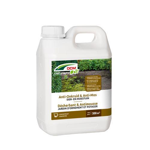 Herbicide total anti-mousse DCM Jardin d'ornement & potager concentré 2,5L 200m²
