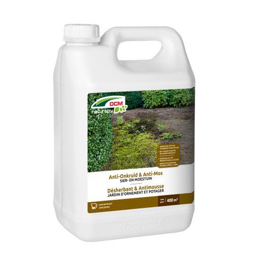 Herbicide total anti-mousse DCM Jardin d'ornement & potager concentré 5L 400m²