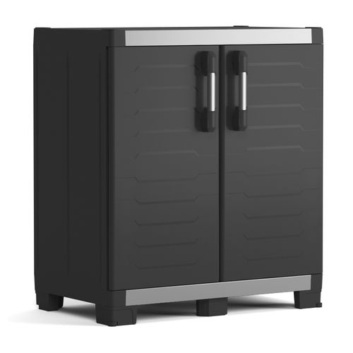 Armoire basse Keter XL Garage polypropylène noir 99x95x54cm