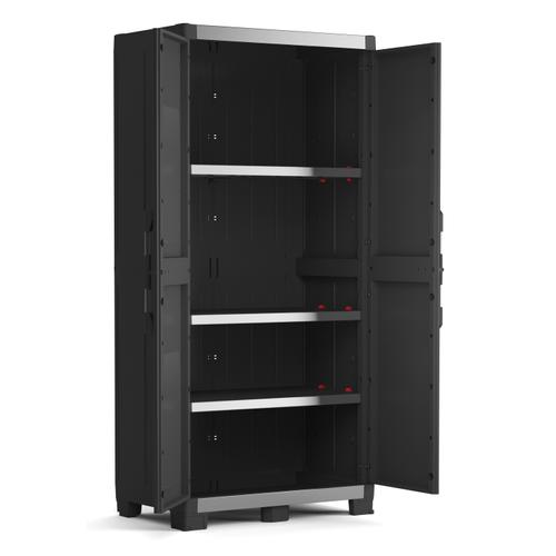 Armoire haute Keter XL Garage polypropylène noir 188x89x54cm