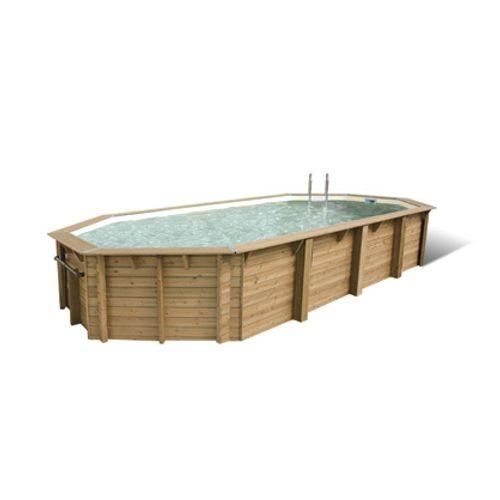 Ubbink houten opzetzwembad Océa 470X860cm