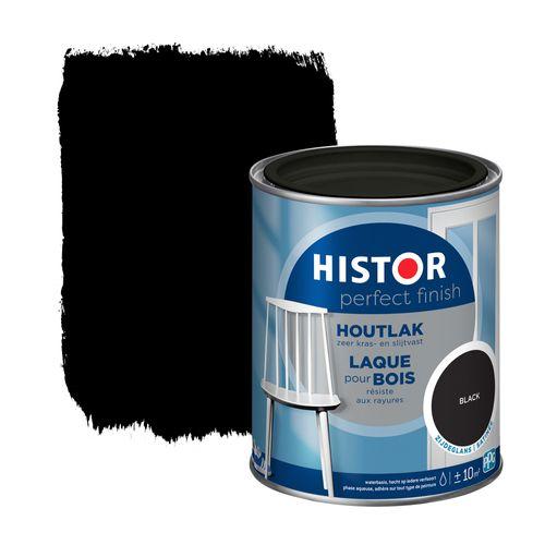 Histor Perfect Finish houtlak zijdeglans zwart 750ml