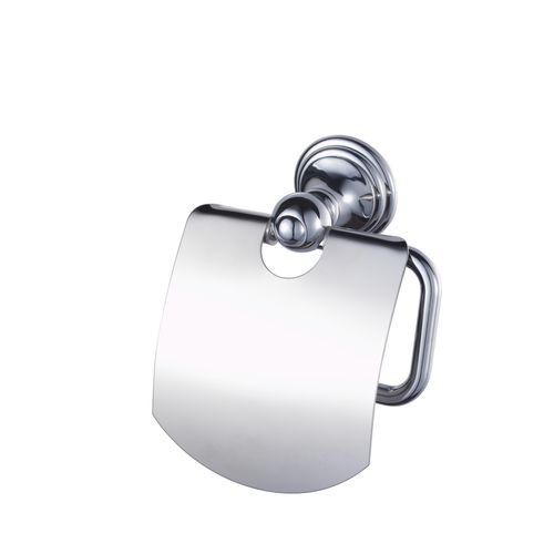 Haceka porte-papier de toilette avec couvercle Amure chrome
