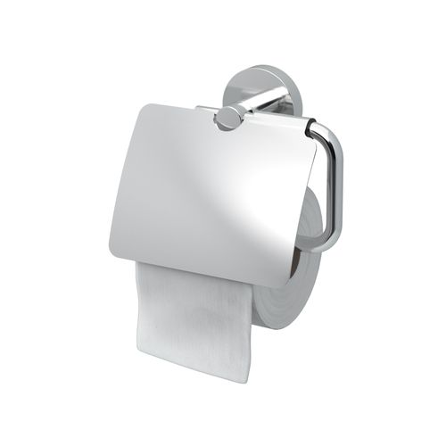 Haceka toiletrolhouder Rondi met klep chroom