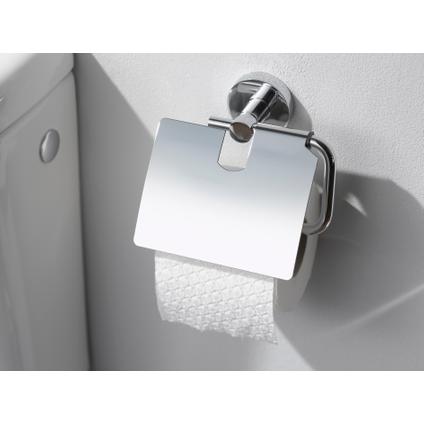 Haceka porte-papier de toilette avec couvercle Rondi chrome