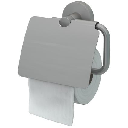 Haceka porte-papier de toilette avec couvercle Rondi brossé