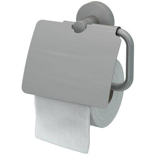 Haceka toiletrolhouder Rondi met klep geborsteld