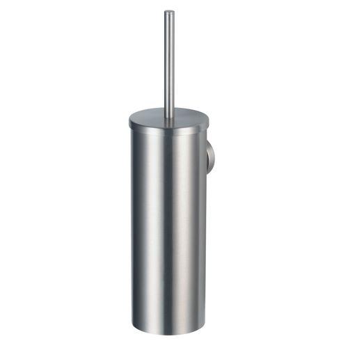 Set brosse WC Haceka Rondi métallique brossé à suspendre