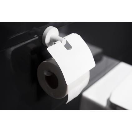 Haceka porte-papier de toilette avec couvercle Rondi blanc