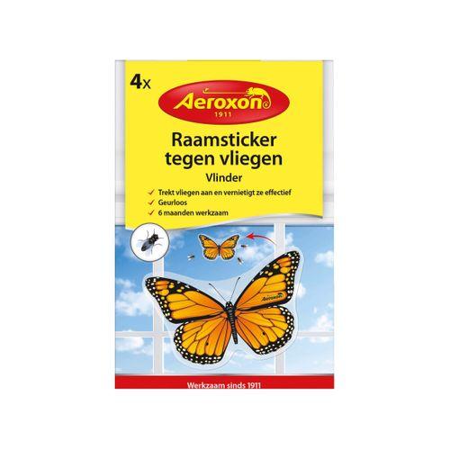 Aeroxon raamsticker vlinder tegen vliegen 4 stuks
