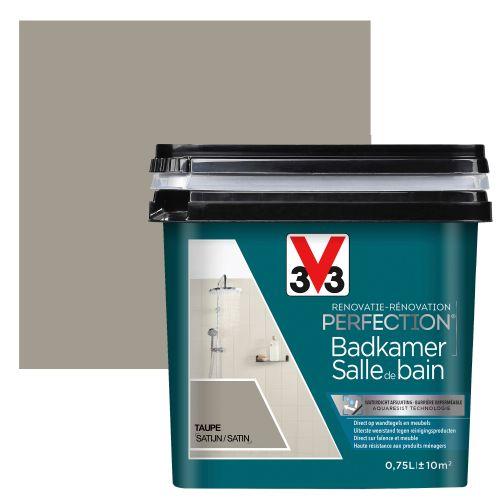V33 badkamerverf Renovatie Perfection zijdeglans taupe 750ml