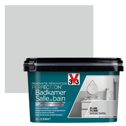 Peinture salle de bain V33 Rénovation Perfection plume satiné 2L