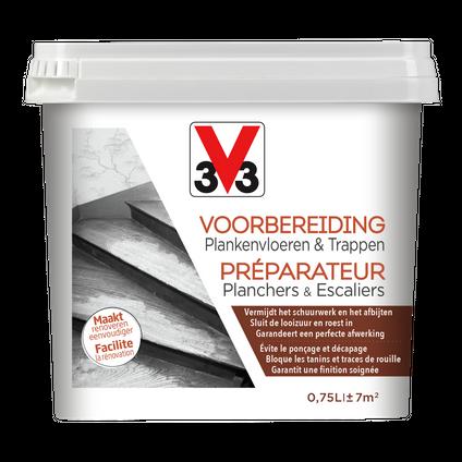 """V33 voorbereiding Plankenvloeren en Trappen wit zijdeglans 750ml"""""""