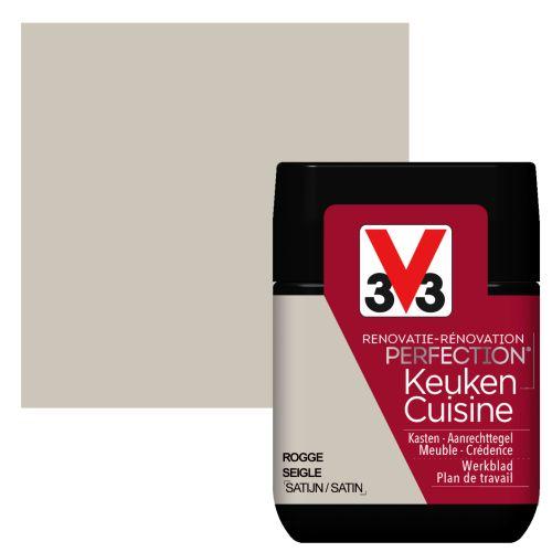 Peinture cuisine V33 Rénovation Perfection seigle satiné 75ml