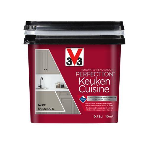 Peinture pour cuisine V33 Rénovation Perfection taupe satinée 750ml