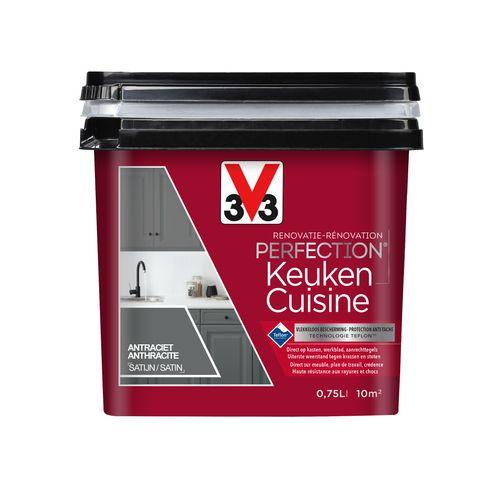 Peinture cuisine V33 Rénovation Perfection anthracite satiné 750ml
