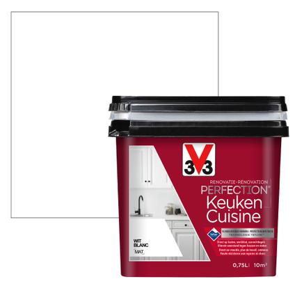 Peinture cuisine V33 Rénovation Perfection blanc mat 750ml